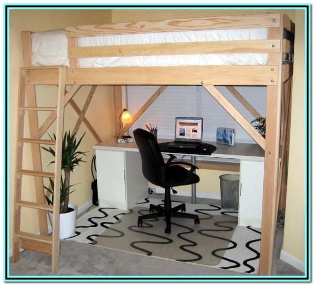 Queen Loft Bed With Desk Plans