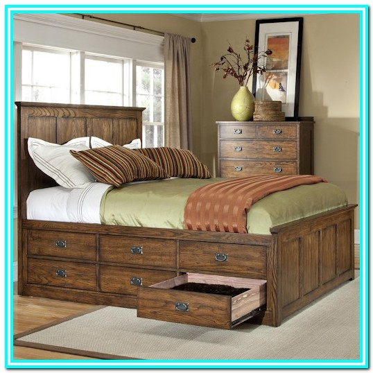 Queen Platform Bed With Drawers Underneath