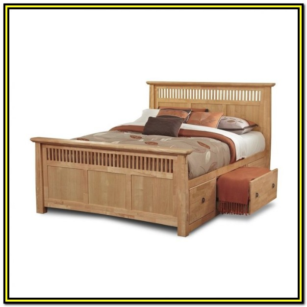 Queen Size Bed Frame With Drawers Diy
