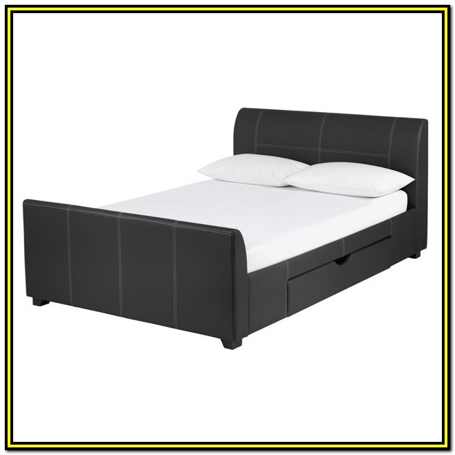 Small Double Bed Frame With Drawers