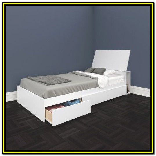 Twin Bed Frame With Drawers Canada