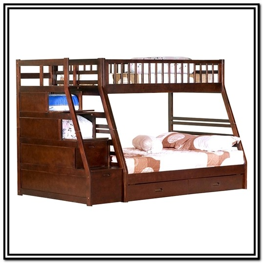 Twin Bunk Bed With Stairs And Storage