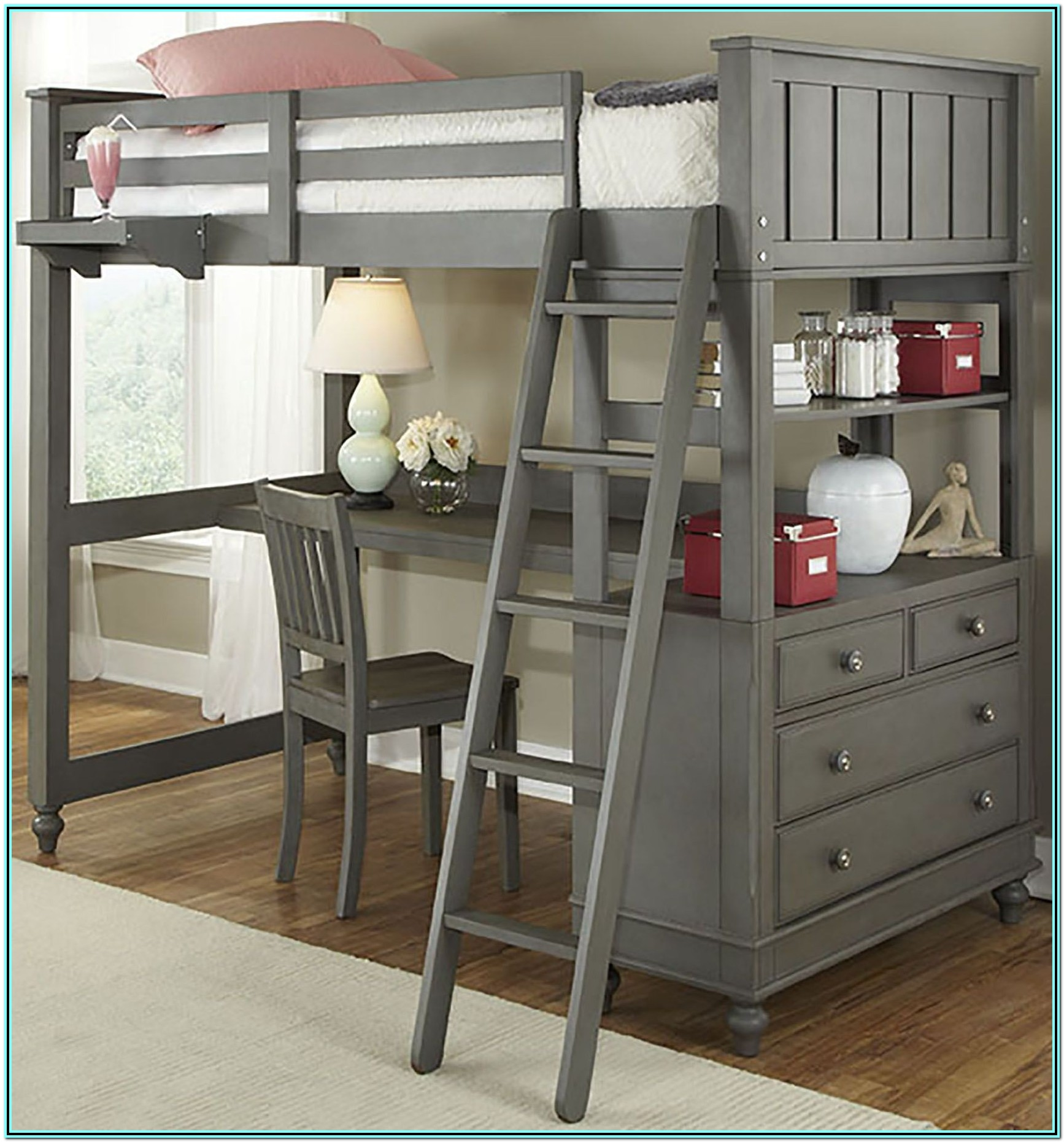 Twin Loft Bed With Desk Plans Free