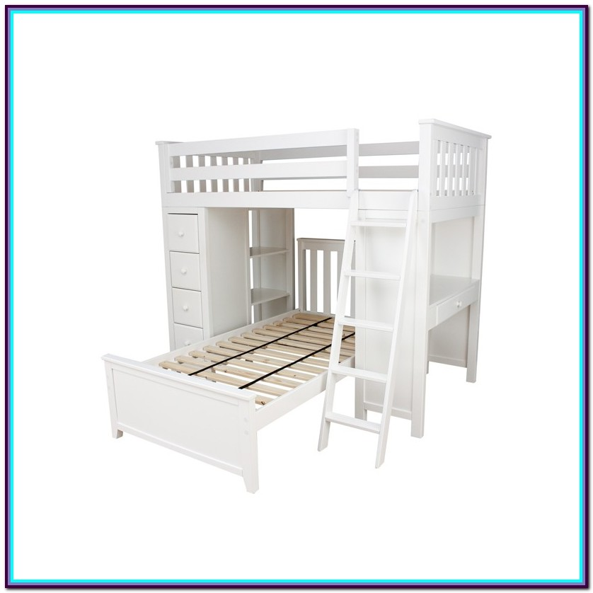 Twin Loft Bed With Desk White