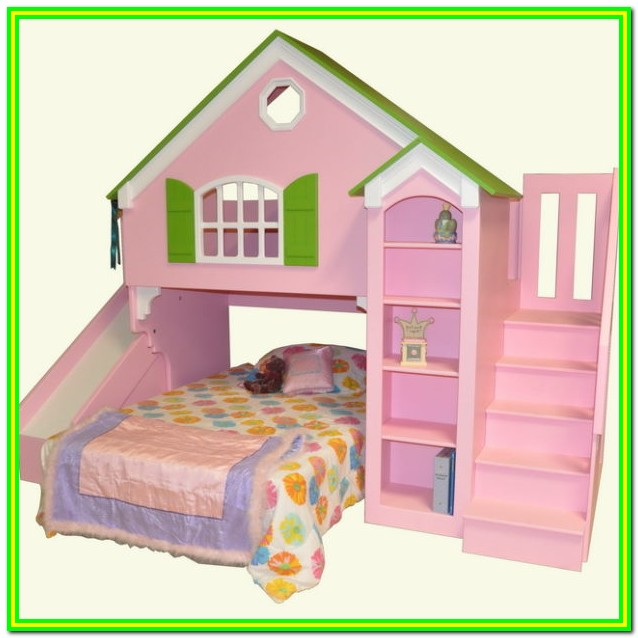 Twin Loft Bed With Stairs And Slide