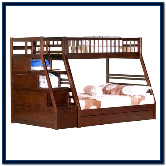 Twin Over Full Bunk Bed With Stairs And Storage