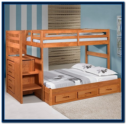 Twin Over Full Bunk Bed With Stairs Building Plans