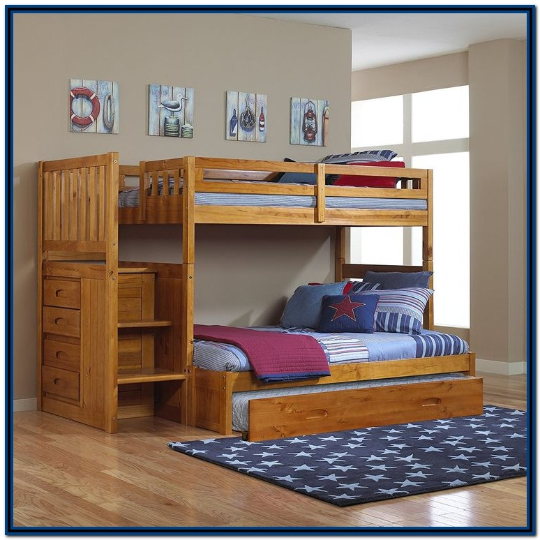 Twin Over Full Bunk Bed With Trundle Amazon