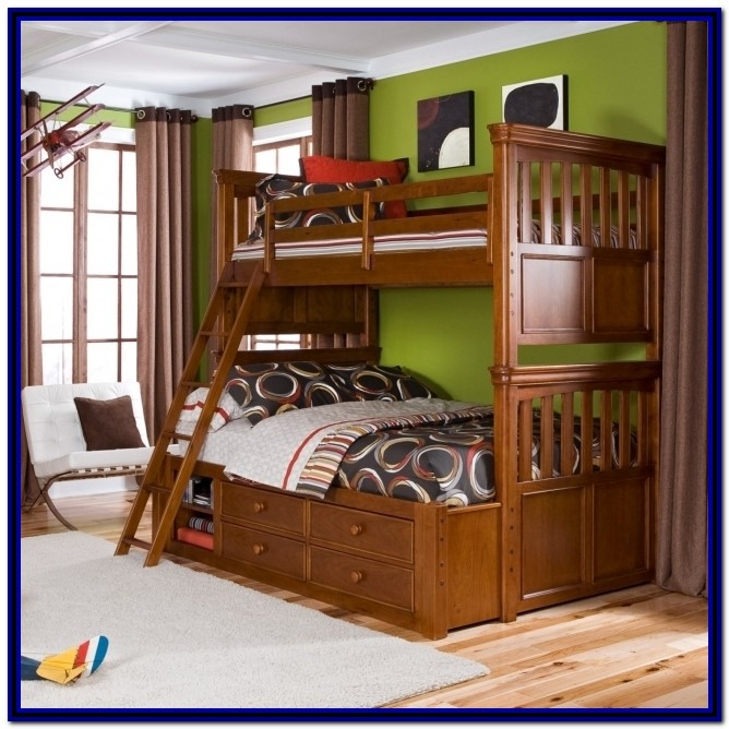 Twin Over Full Bunk Beds With Stairs And Trundle