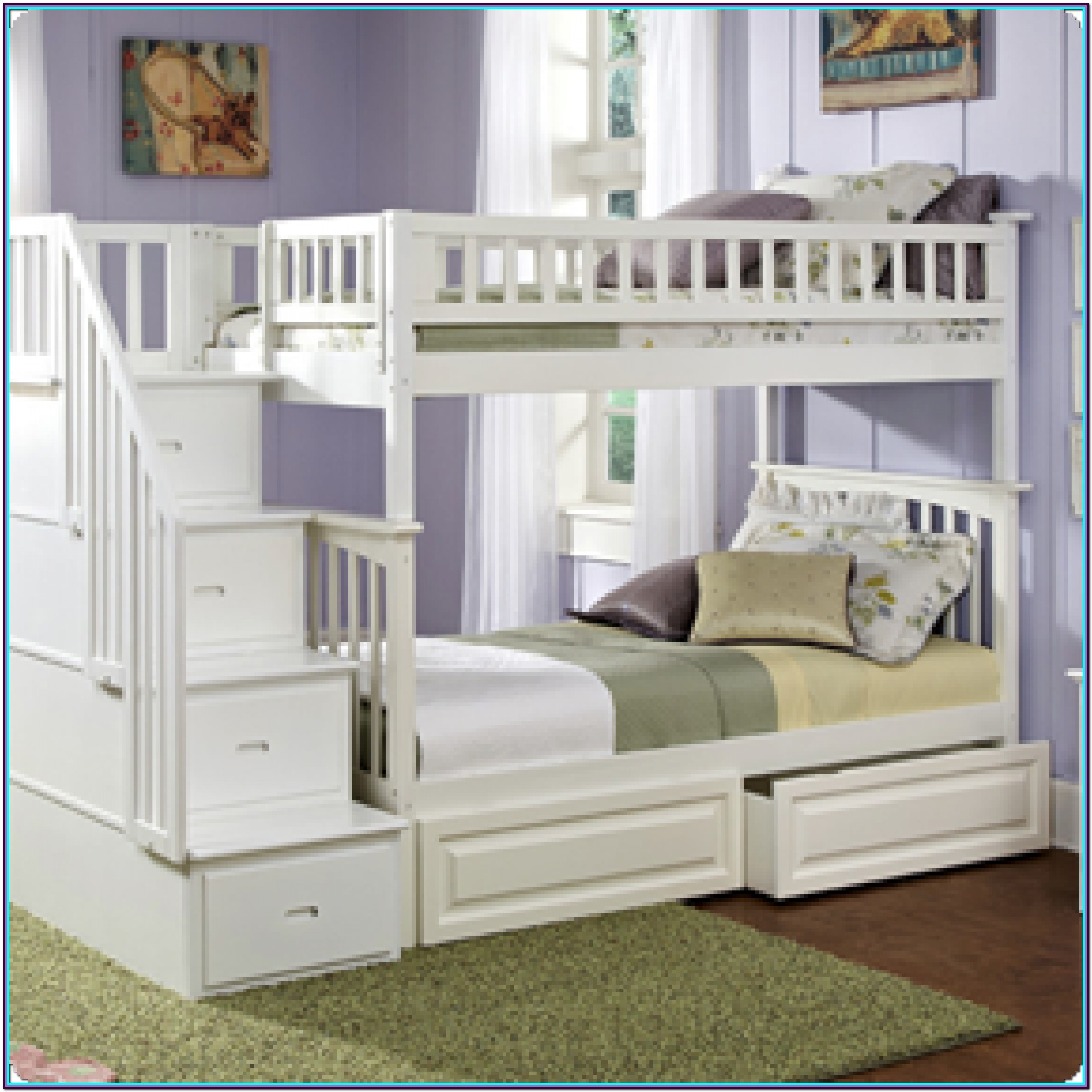 Twin Over Twin Bunk Beds With Drawers