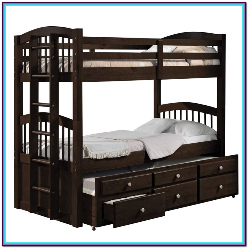 Twin Over Twin Loft Bed With Storage