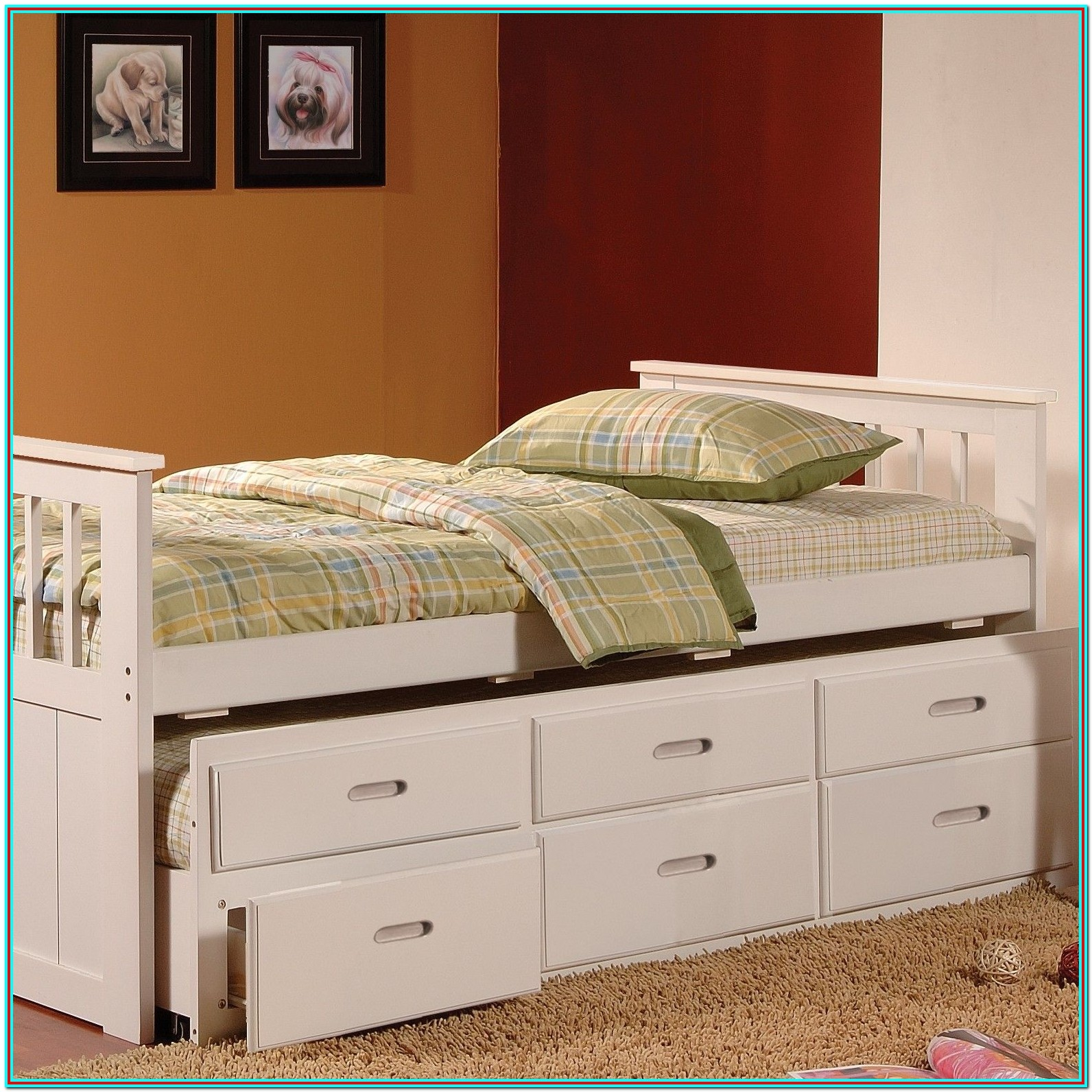 Twin Size Bed With Mattress Included