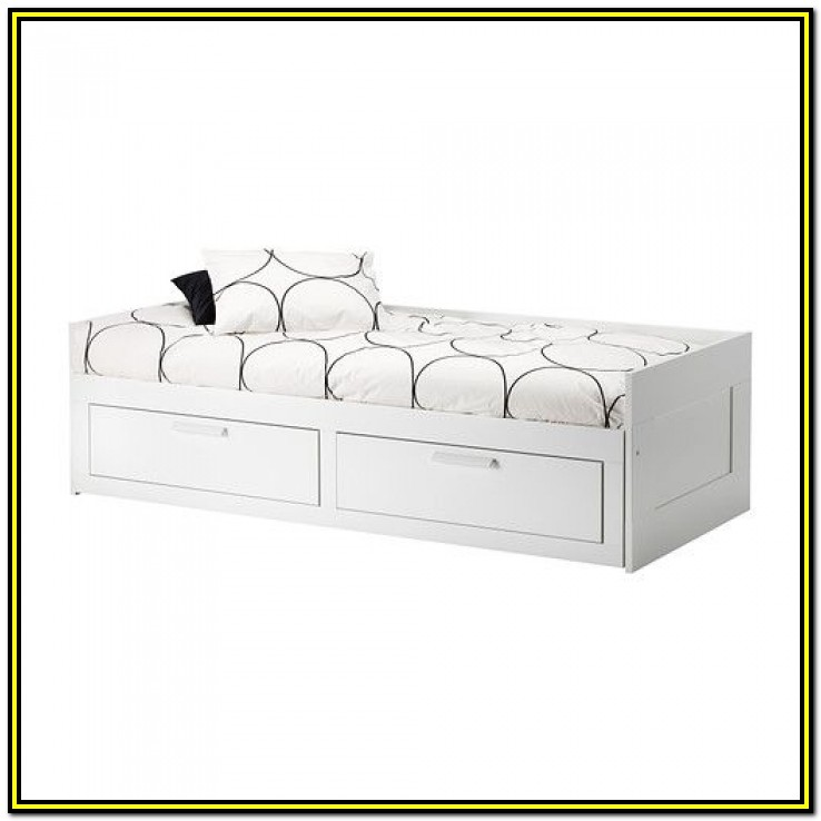 White Single Bed Frame With Drawers