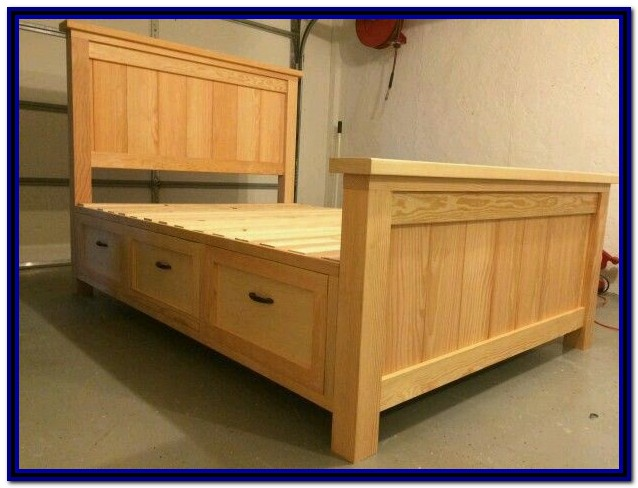 Wood Bed Frame With Storage Plans