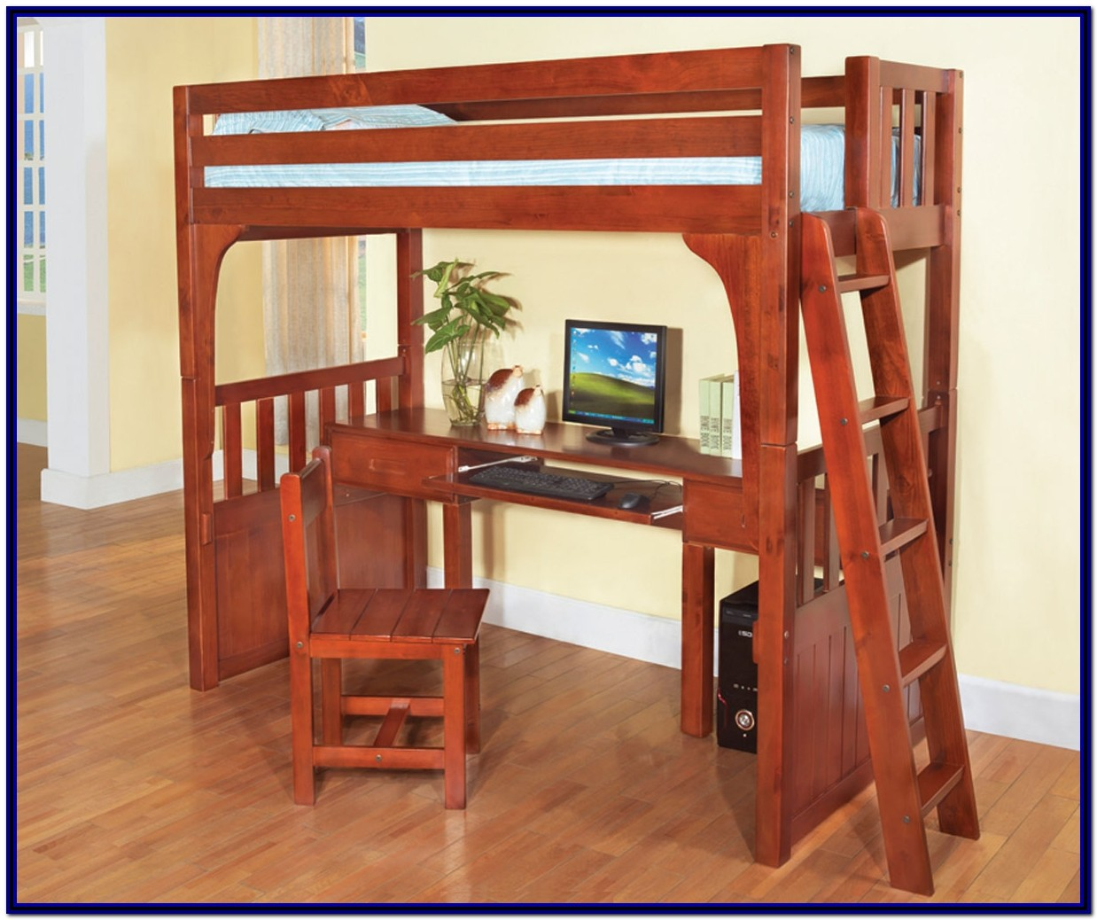 Wood Bunk Bed With Desk And Dresser