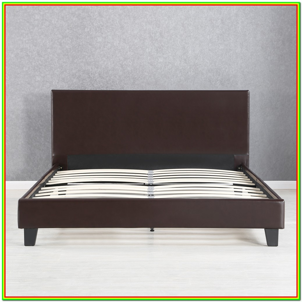 Wood Queen Platform Bed Frame With Headboard