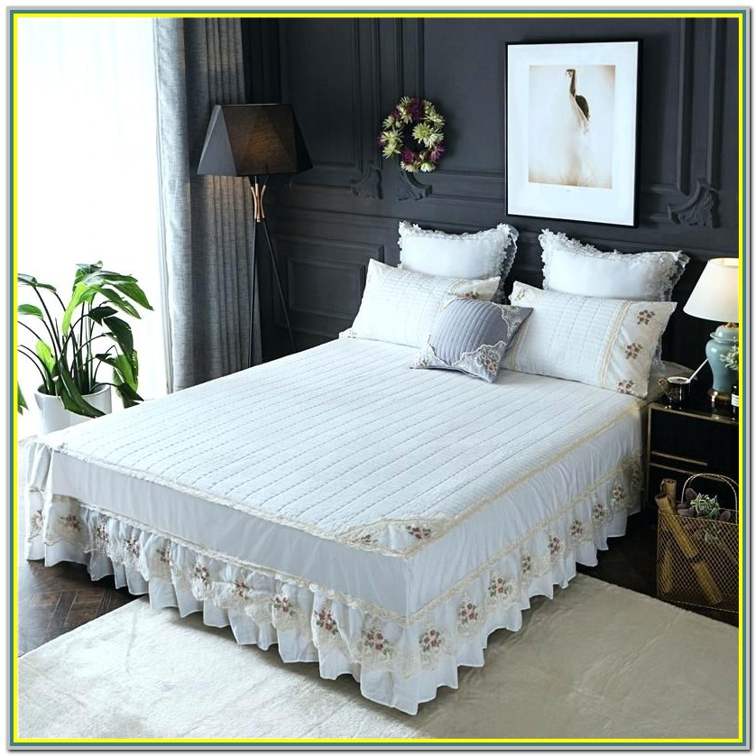 16 Inch Split Corner Bed Skirt