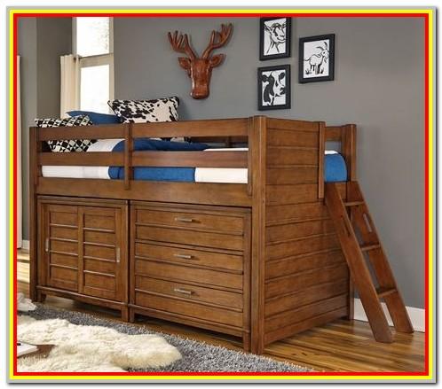 Addison Junior Low Loft Bed With Storage Drawers Desk And Bookshelf