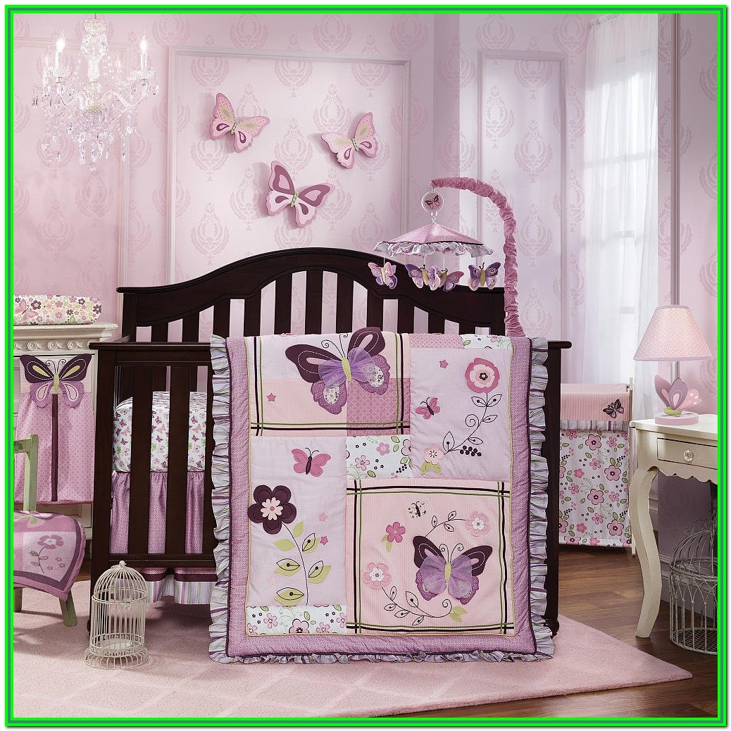 Baby Girl Crib Bedding Sets Butterflies