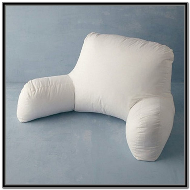 Bed Rest Pillow With Arms And Cup Holder