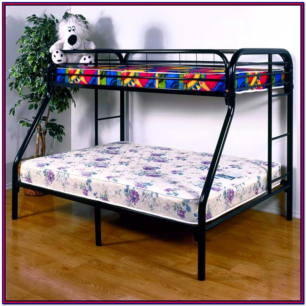 Black Metal Bunk Bed Twin Over Full