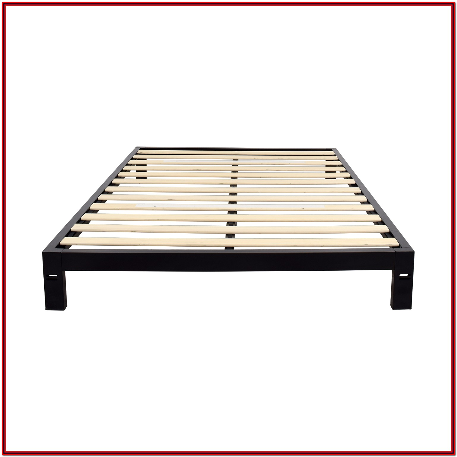 Black Metal Platform Bed Frame Queen