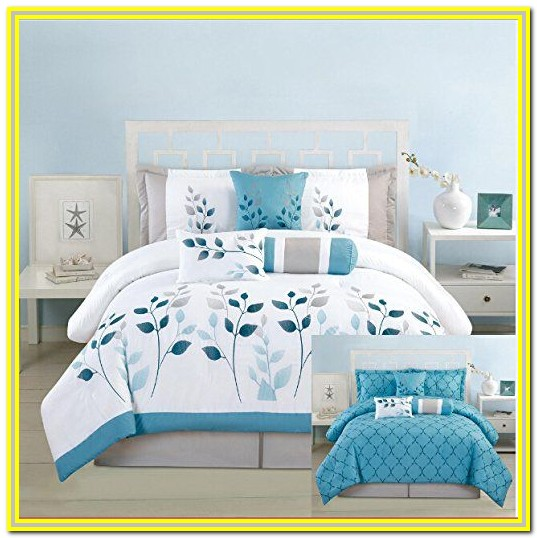 Blue White And Grey Cot Bedding