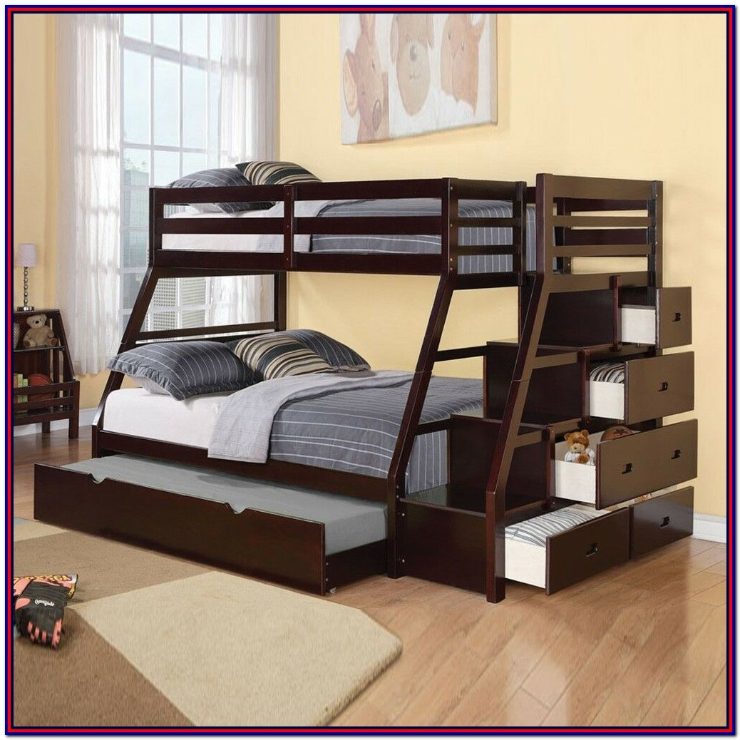 Bunk Bed Twin Over Full With Staircase