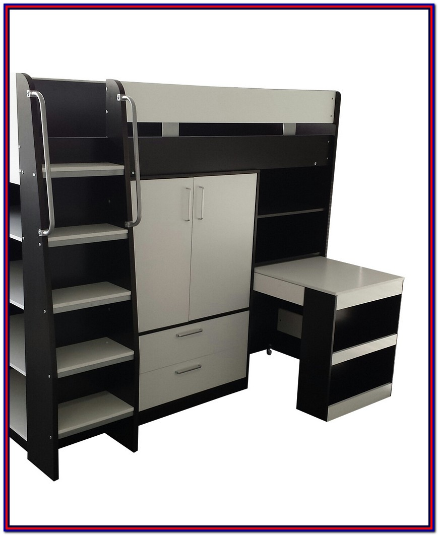 Bunk Bed With Storage And Desk