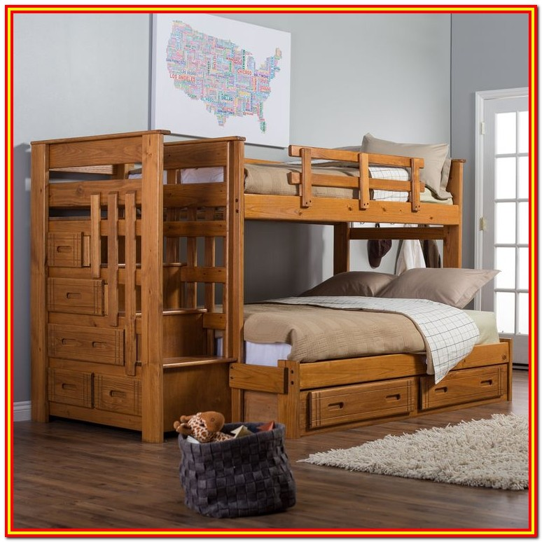 Bunk Bed With Storage Stairway