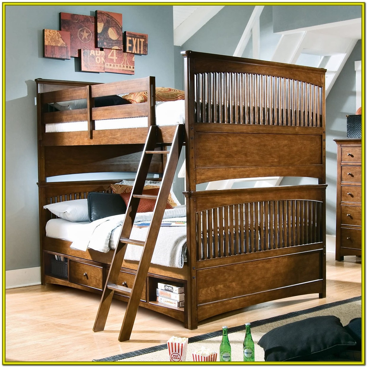 Bunk Beds Full Over Full With Stairs