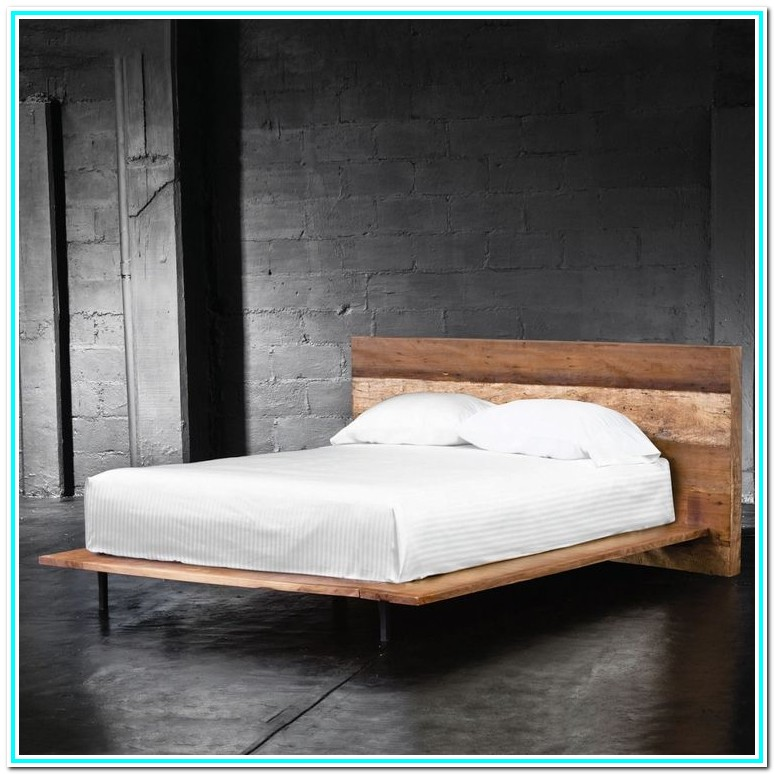 Cal King Platform Bed Frame With Headboard