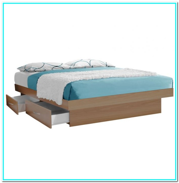 Cal King Platform Bed With Storage