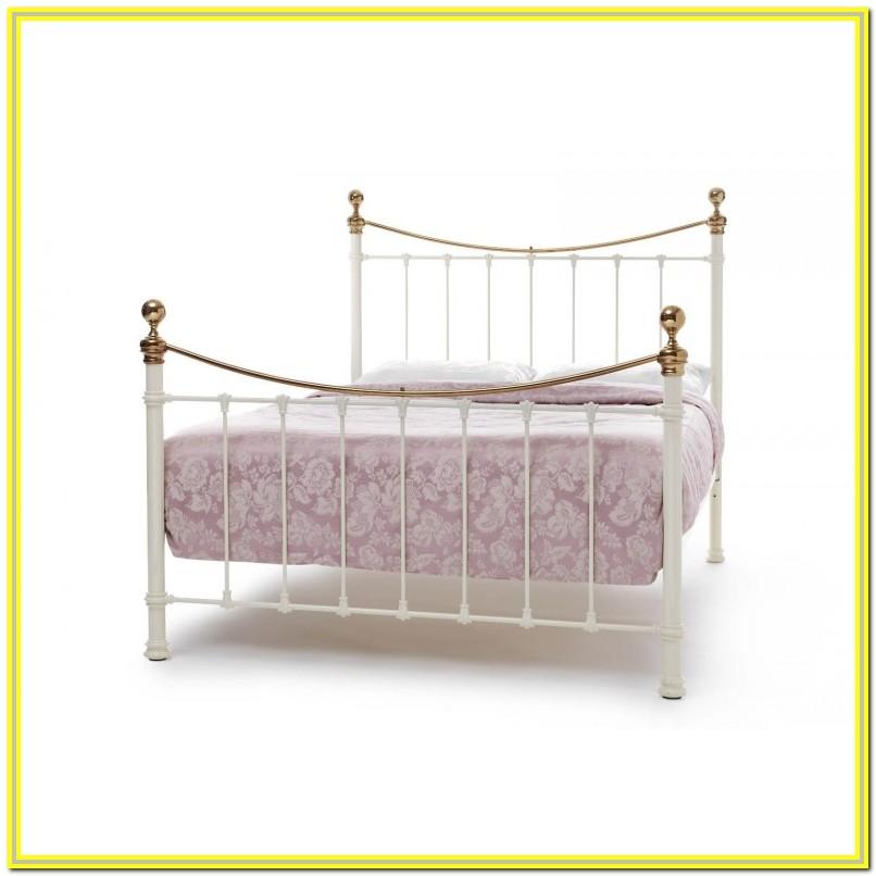 Cream Metal Bed Frame Super King