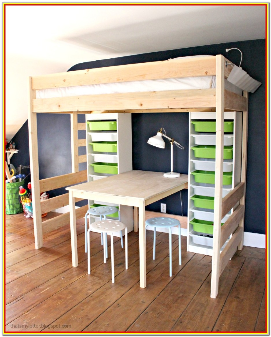 Diy Loft Bed With Storage Plans