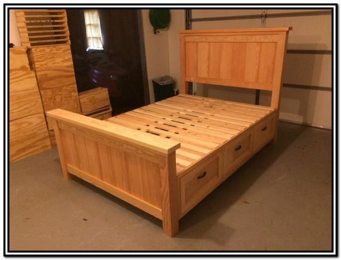 Free King Size Storage Bed Plans