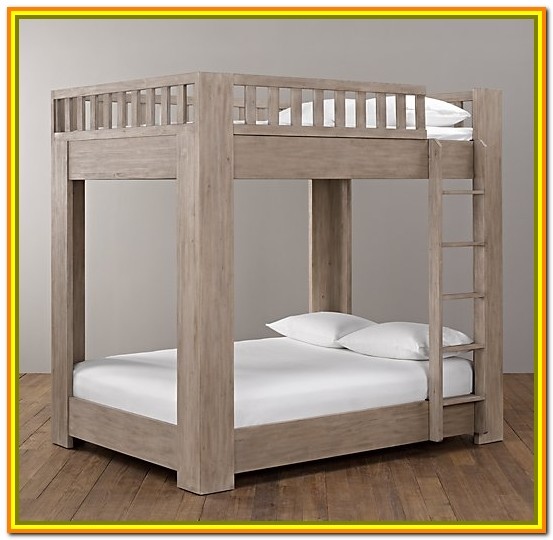 Full Over Full Bunk Bed With Stairs Plans