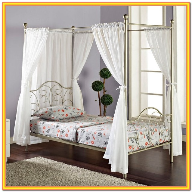 Full Size Canopy Bed Curtains