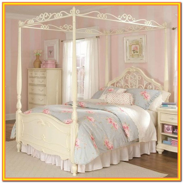 Full Size Canopy Bed For Girl