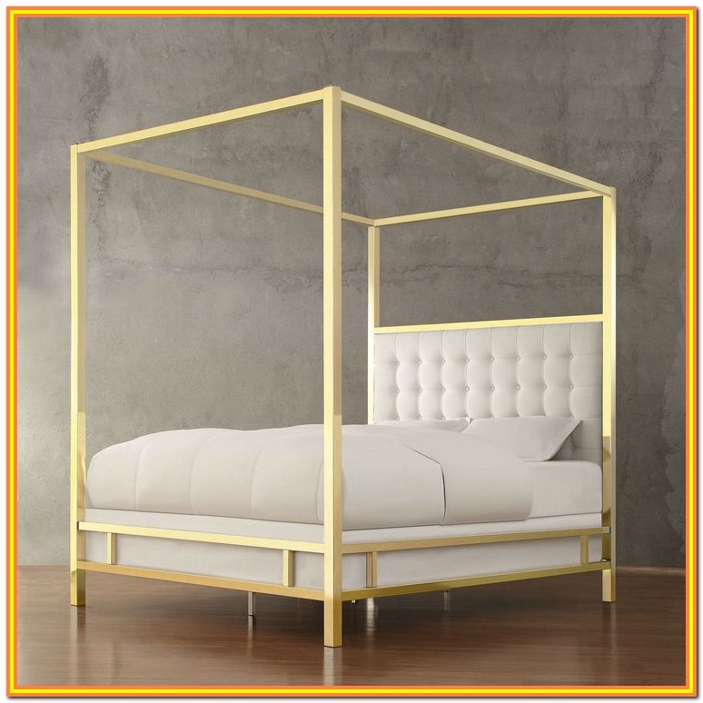 Full Size Canopy Bed With Storage