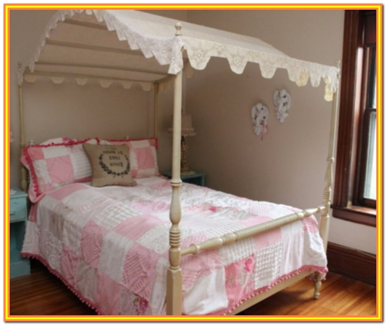 Full Size Canopy Bed Wood