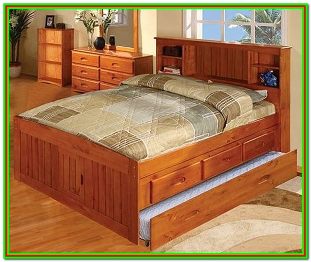 Full Size Captains Bed Plans