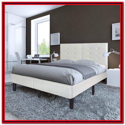 Granrest 14 Dura Metal Faux Leather Platform Bed Frame Full