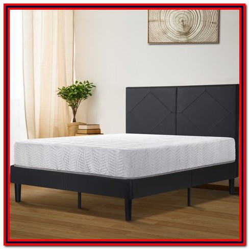 Granrest 14 Dura Metal Faux Leather Platform Bed Frame King