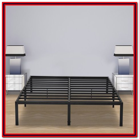 Granrest 14'' Innovative Metal Platform Bed Frame Queen