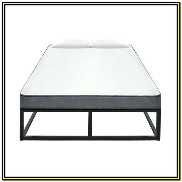 Intellibase Wood Slat Metal Bed Frame Queen Vmi 16111 Q2