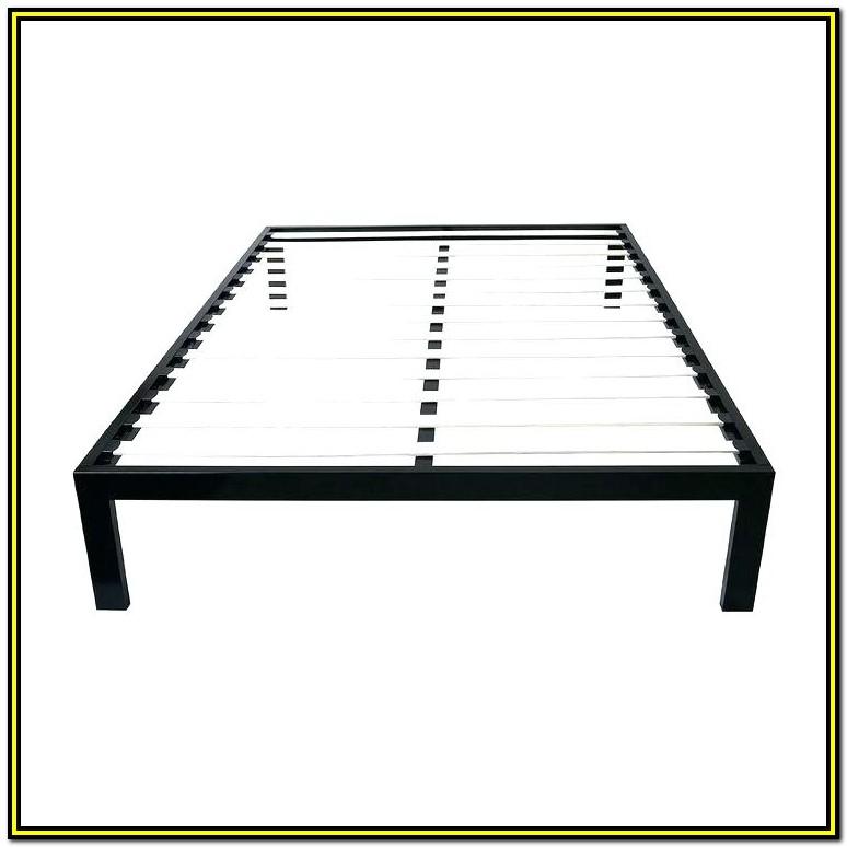 Intellibase Wood Slat Metal Bed Frame Queen