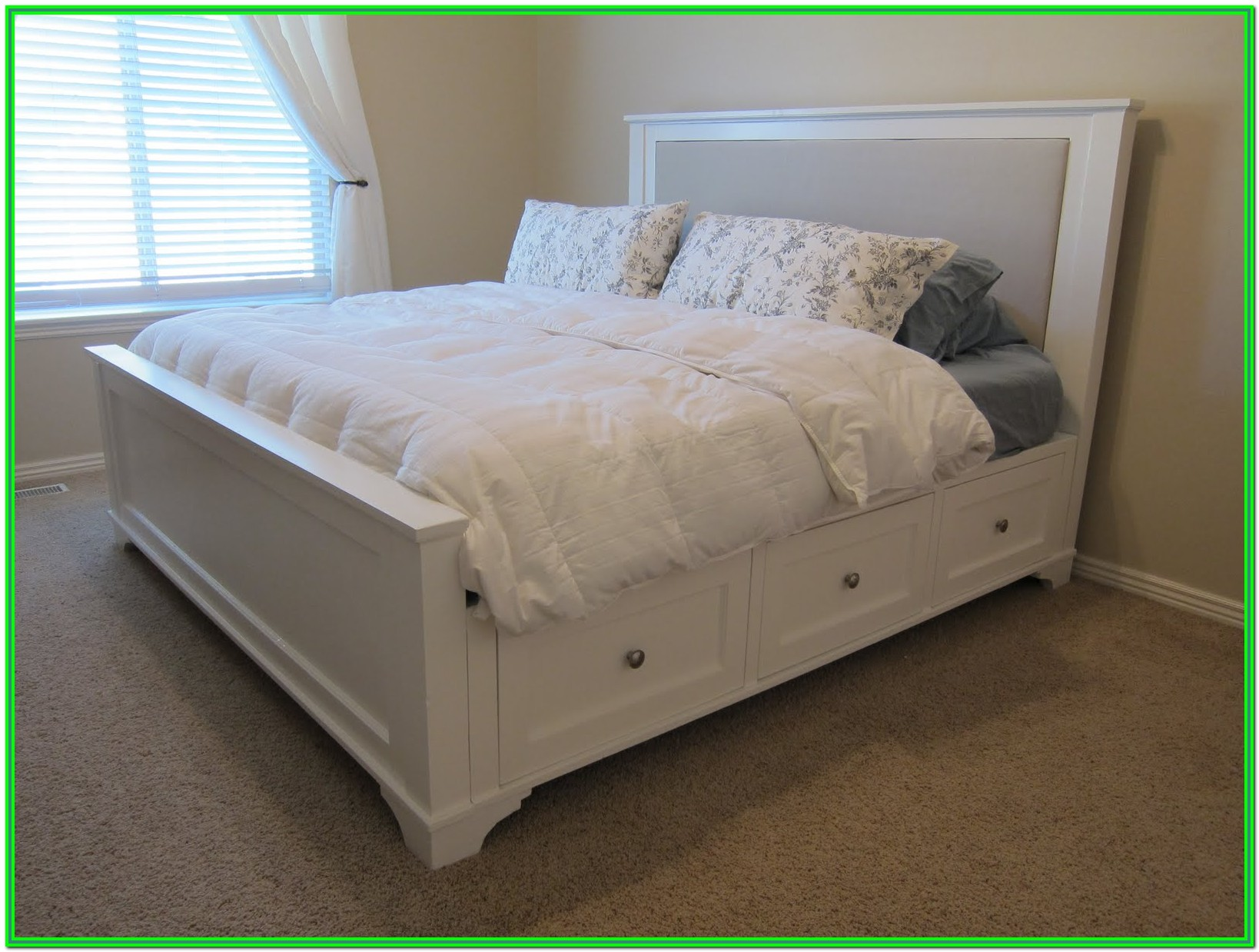 King Bed Frame With Storage Drawers