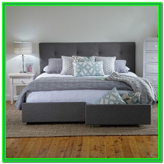 King Bed Frame With Storage Headboard