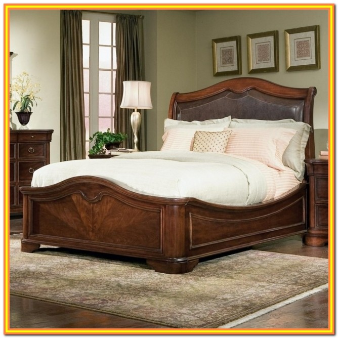 King Size Bed Frame With Headboard And Mattress